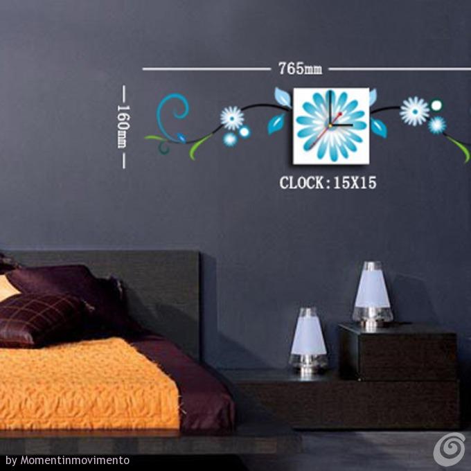 Idee arredo camera da letto:Le Decorazioni Adesive con Orologio in ...