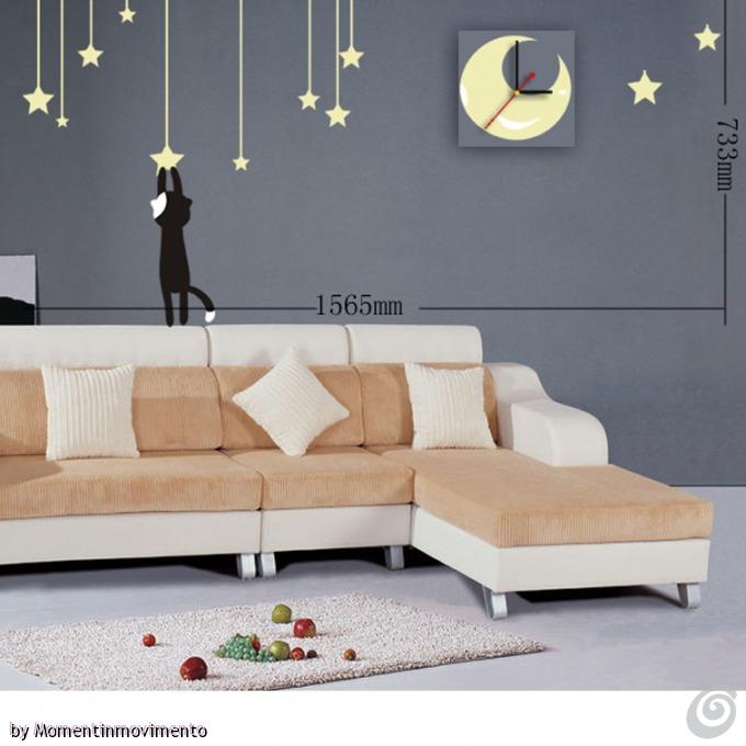 Idee arredo camera da letto le decorazioni adesive con for Adesivi x pareti
