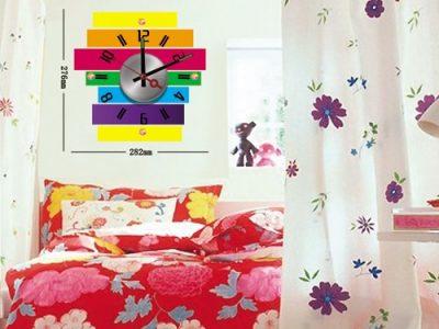 Idee arredo camerette orologi adesivi colorati per le pareti casa e trend - Stampi per decorare pareti ...