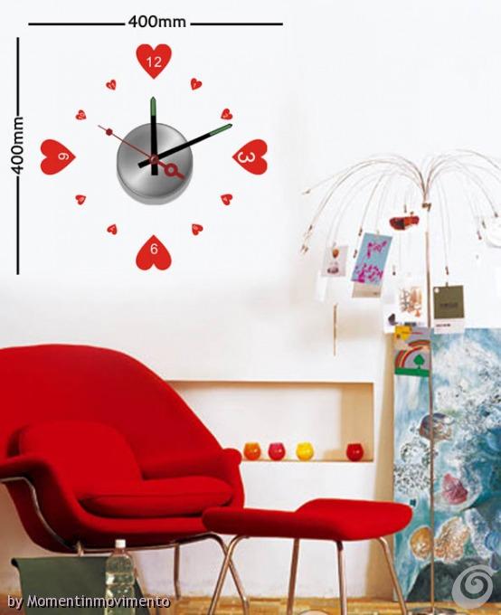 Idee arredo camerette orologi adesivi colorati per le for Adesivi per piscine
