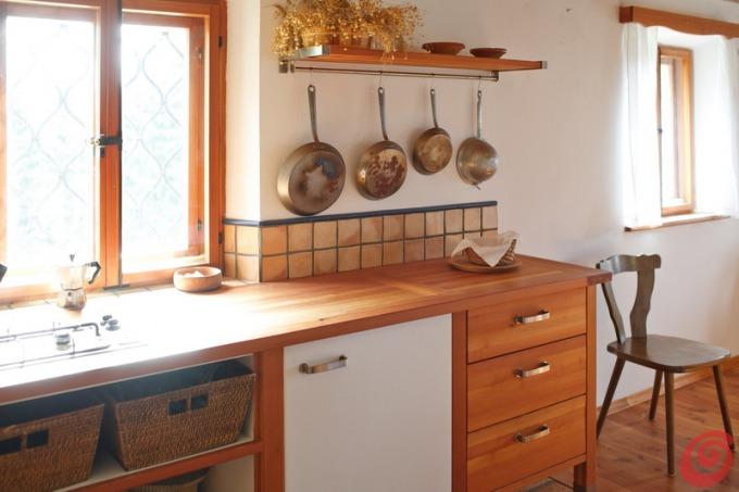 Cucina rustica in una casa di montagna casa e trend for Piani di casa contemporanea rustica