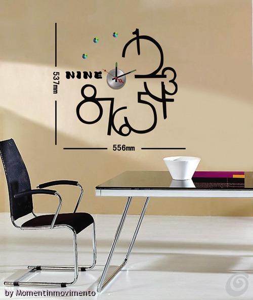 Gli orologi adesivi di momentinmovimento casa e trend for Orologi da parete adesivi