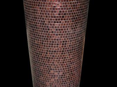 Vaso Parigi h 127cm, diametro minimo 43cm, diametro massomo 61 cm Tasselli di vetro
